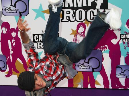 George Sampson on the red carpet