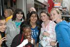 Image 3: JLS fans surround Capital