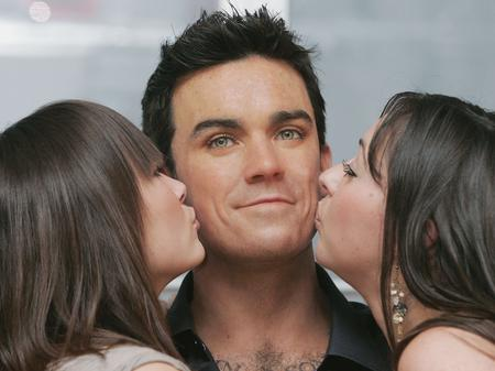Robbie, or rather his waxwork double