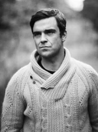 Robbie goes for the knitwear