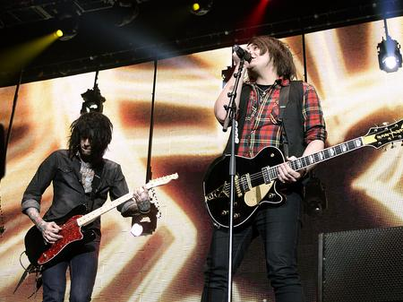 Metro Station on stage at the Jingle Bell Ball