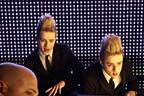 Image 6: Backstage at the Jedward video shoot
