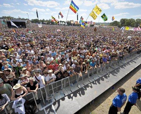 The Glastonbury 2010 crowd