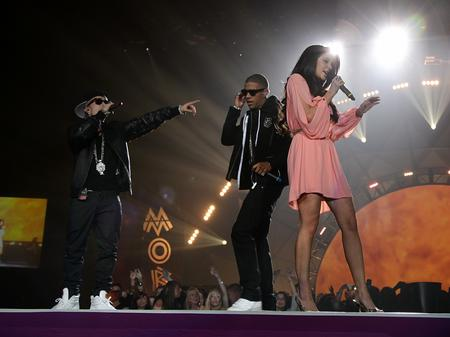 N-Dubz perform at the MOBO Awards
