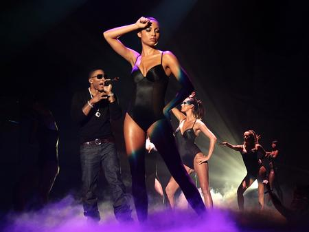 Nelly performs at the MOBO Awards