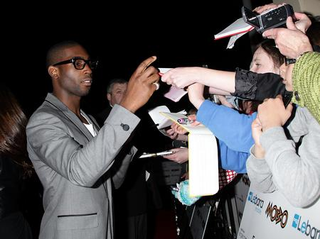 Tinie Tempah arrives at the MOBOs