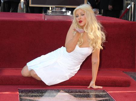 Christina Aguilera walk of fame