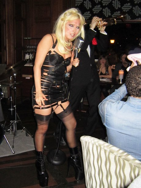 Lady Gaga performs at The Oak Room in New York Cit