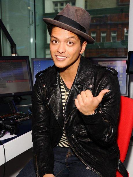 Bruno Mars in the Capitalfm Studios