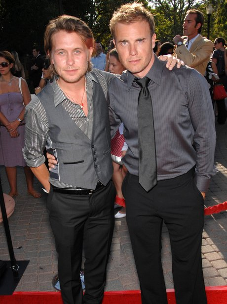 Gary Barlow and mark owen on red carpet
