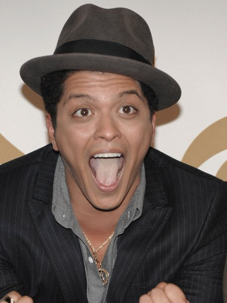 Bruno Mars is seen backstage at the Grammy Nominations concert