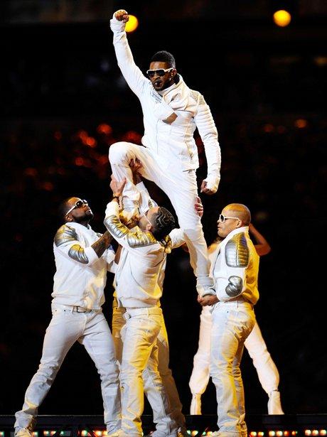 Usher live at The Superbowl