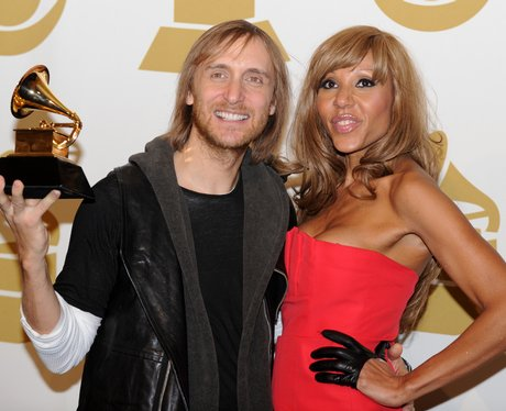 David Guetta and his wife Cathy at the Grammys