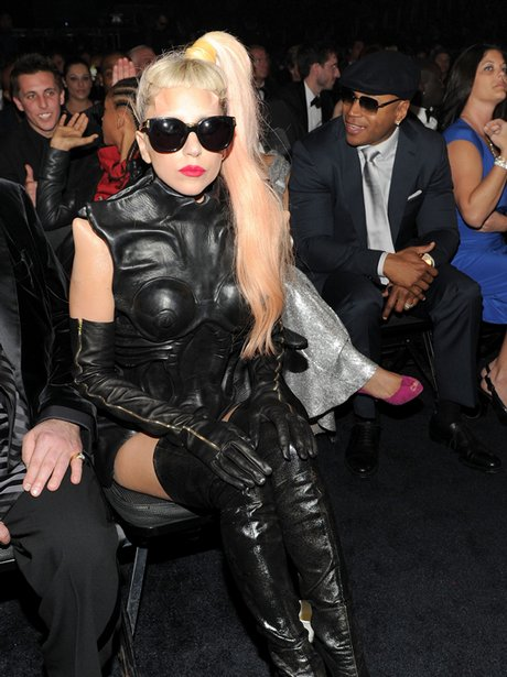 Lady Gaga backstage at the Grammy Awards