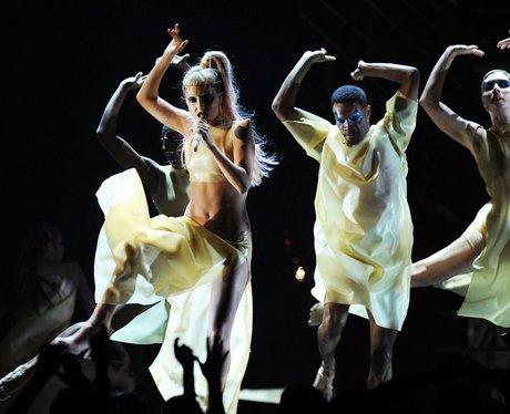 Lady Gaga live at the  Grammys