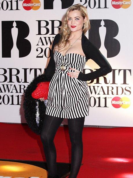 Laura Whitemore BRITs red carpet