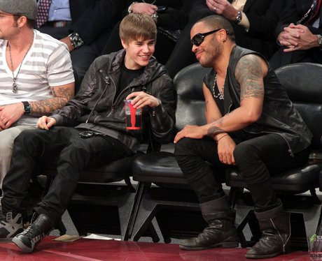justin bieber at The NBA All-Star Game
