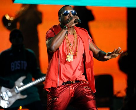 Kanye West live at The NBA All-Star Game