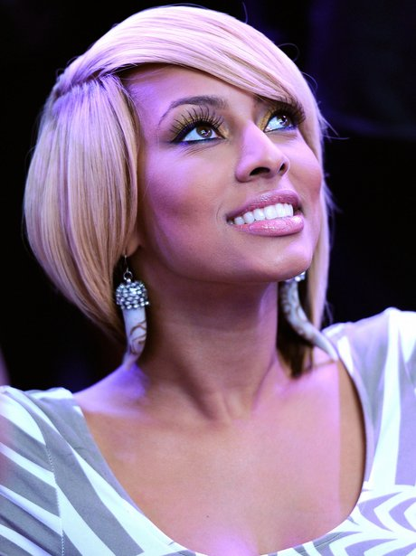 Singer Keri Hilson sits in the audience during the