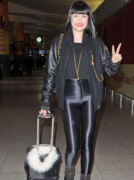 Jessie J arriving in NY