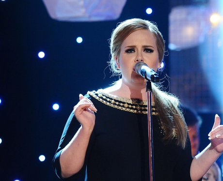Adele performs 'Rolling In The Deep'.