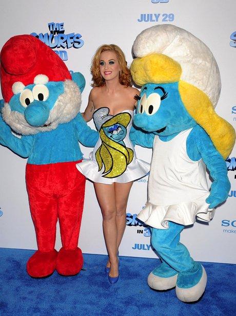 """Katy katy Perry """"The Smurfs"""" Premiere"""