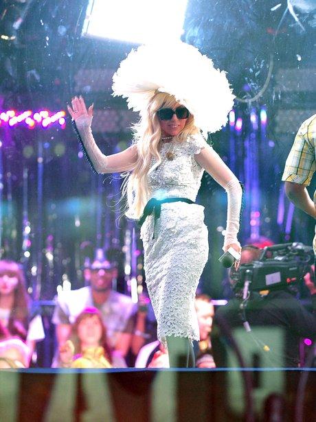 Lady Gaga visits MTV