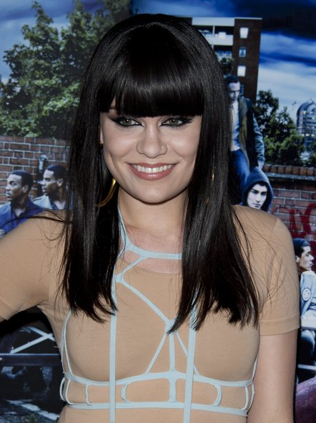 Jessie J with a long bob at a film premiere