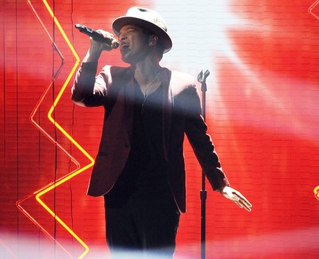 Bruno Mars performing live