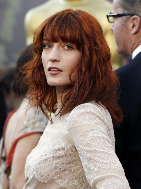 Florence Welch wearing make-up