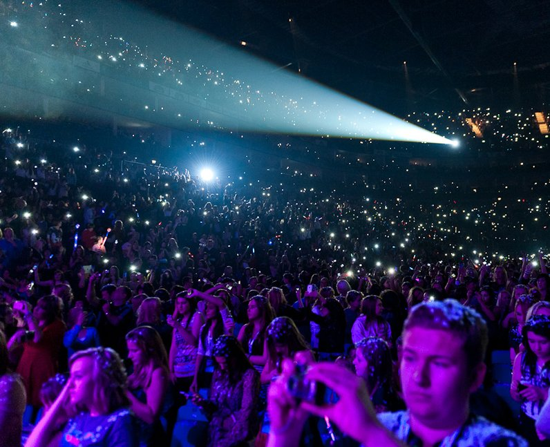 Crowd during Ed Sheeran live at the 2011 Jingle Bell Ball