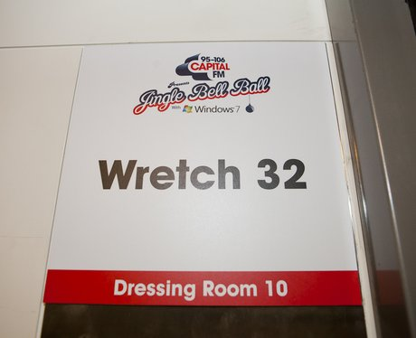 Wretch 32's Dressing Room Backstage At The 2011 Jingle Bell Ball