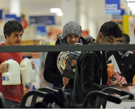 One Direction food shop in Tesco's