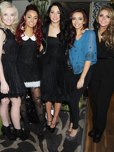 Tulisa pictured wiht Little Mix