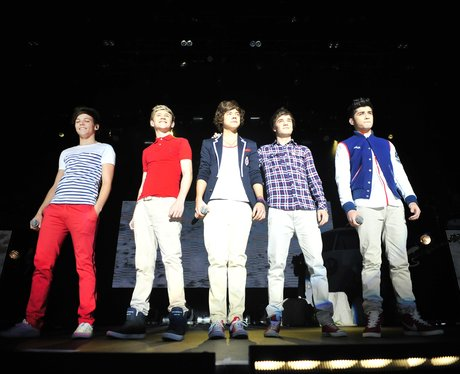 One Direction perform on their 2012 tour