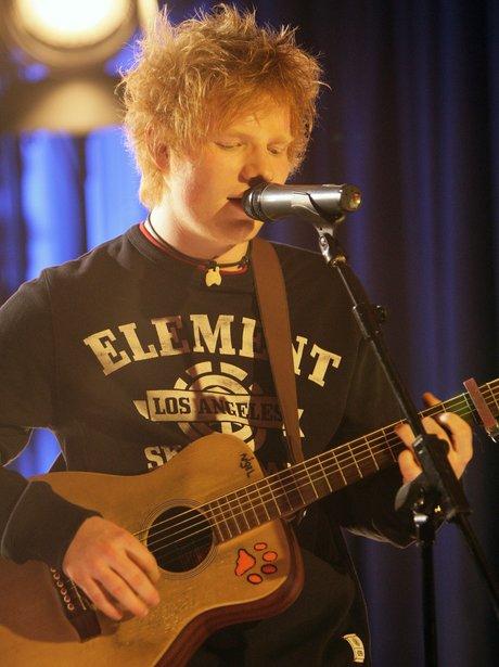 Ed Sheeran performs live at the 2012 BRIT awards nominations