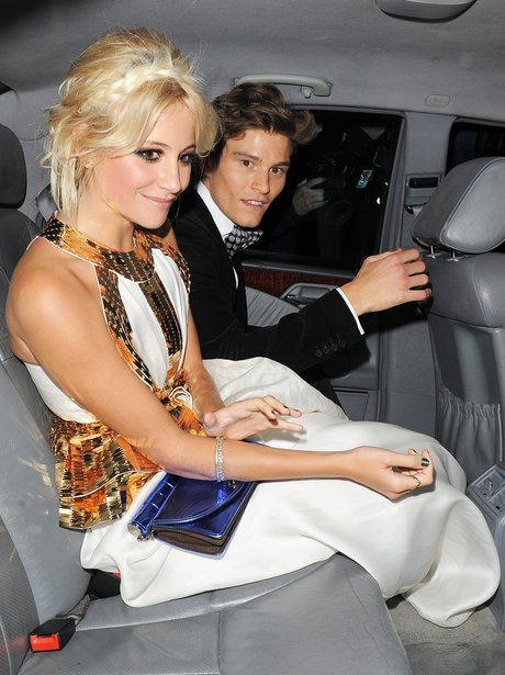 Pixie Lott and her boyfriend Oliver Cheshire at he