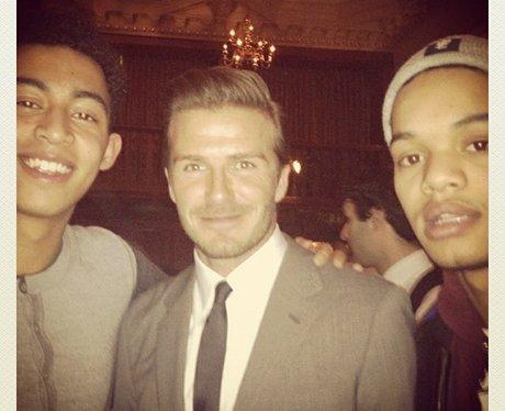 David Beckham And Rizzle Kicks