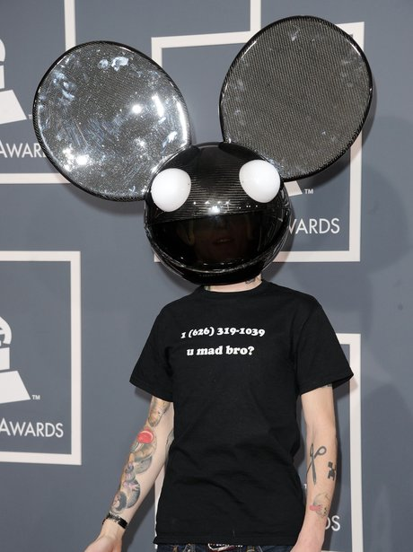 Deadmau5 on the Red Carpet Grammy Awards