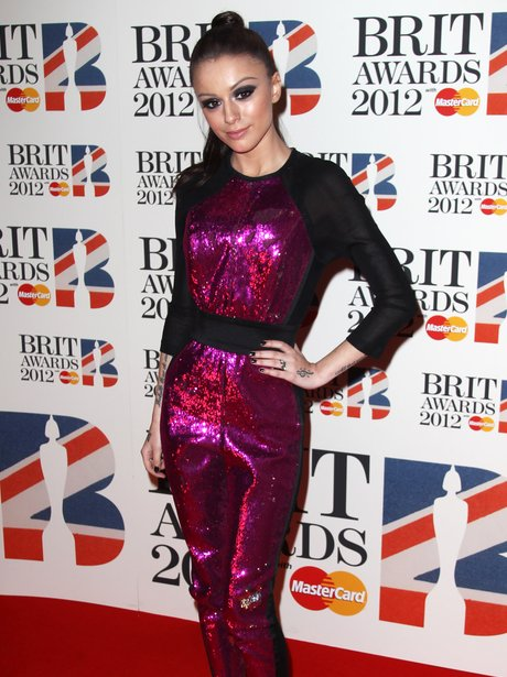 Cher Lloyd attends the BRIT Awards 2012