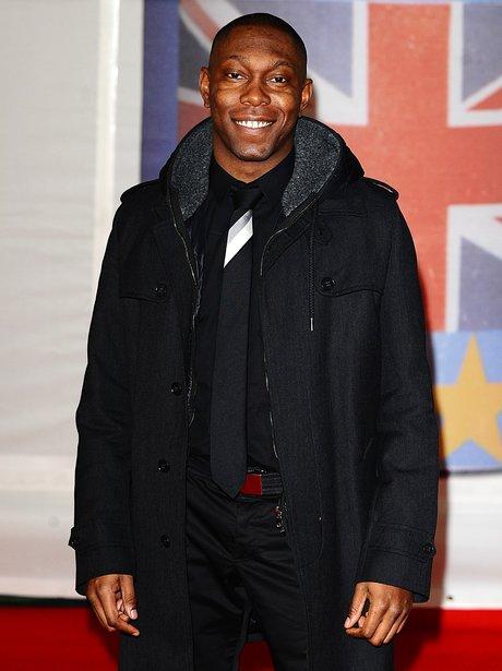 Dizzee Rascal arrives at the BRIT Awards 2012