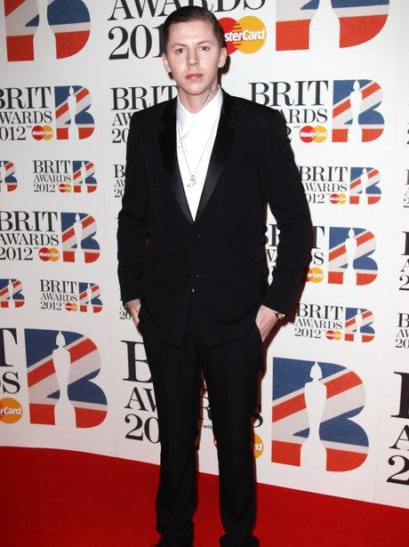 Professor Green arrives at the BRIT Awards 2012