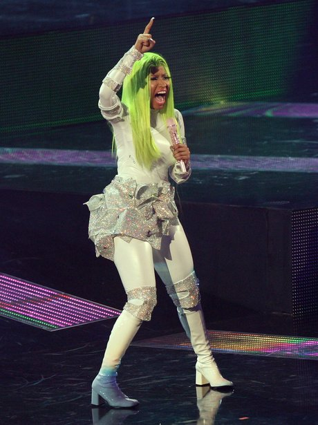 Nicki Minaj performs live