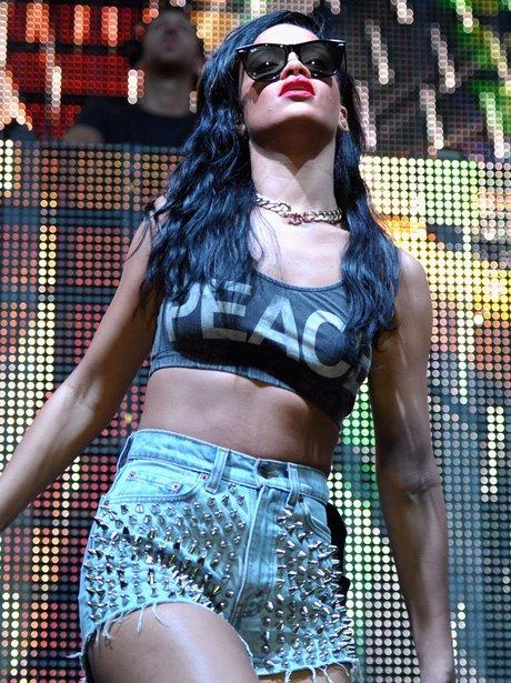 Rihanna performs at Coachella festival