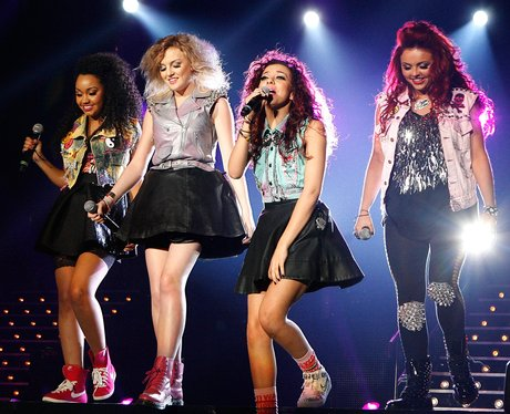 Little Mix permforming live on stage