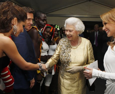 Cheryl Cole and The Queen