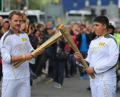 The Olympic torch arrives in Bury