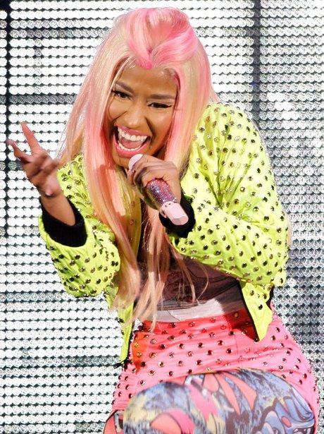 Nicki Minaj live on stage.