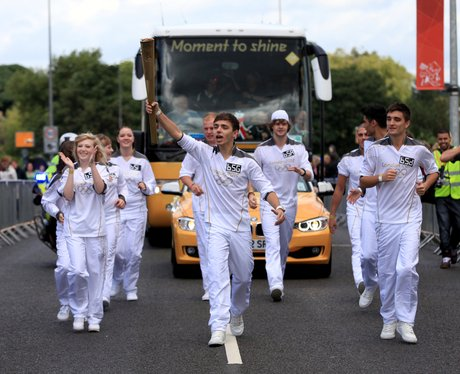 the wanted olympic torch