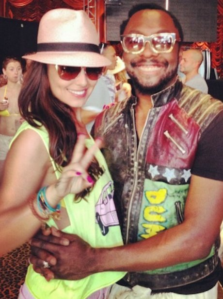 will.i.am and Cheryl Cole together in Las Vegas